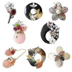 옥션 - 모바일 쇼핑은 옥션 Beaded Jewelry, Handmade Jewelry, Pearl Brooch, Tiny Flowers, Diy Accessories, Hanfu, Jewelery, Metallica, Drop Earrings