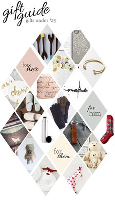 A holiday gift guide to hopefully inspire those last minute online shopping adventures...and they are all items that are under $25!
