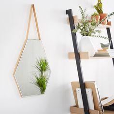 Octa Déco | Miroir hexagonal à suspendre H45cm - Décoration - Déco - Maison - Alinéa