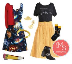 """""""SCIENCE!"""" by modcloth ❤ liked on Polyvore featuring FluffyCo and Jeffrey Campbell"""