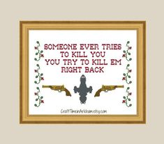 Firefly Capt. Mal quote cross stitch pattern from CraftTimeinArkham on Etsy.