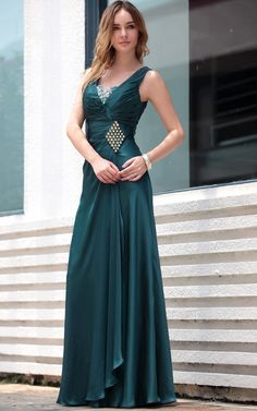fd46b566d14b1 Dark Green Off Shoulder Ruffle V-neck Beaded Party Prom Ball Gown Evening  Dress -