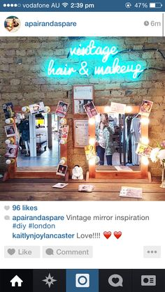 Mirrors Mirror Inspiration, Neon Signs, London, Mirrors, Diy, Collage, Vintage, Home, Interiors