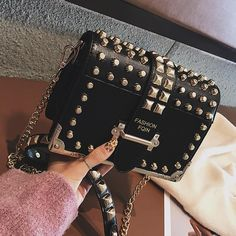 Luxury Brand Vintage Rivet bag 2019 Fashion New High Quality PU Leather Women's Designer Handbag Chain Shoulder Messenger bag – Brown – Purses And Handbags Crossbody Best Handbags, Cheap Handbags, Luxury Handbags, Popular Handbags, Cheap Purses, Luxury Purses, Cheap Bags, Wholesale Handbags, Hobo Handbags