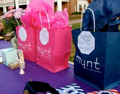 """Phi Mu of Elon hosted a raffle to raise money and awareness for pancreatic cancer research.  Raffled items included Mollybeads hoop earrings, a Southern Proper """"frat kit,"""" and Tocca beauty products."""