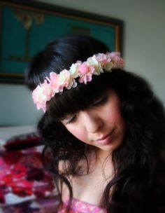 Rose hairband DIY.