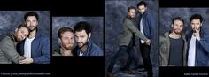 I think they are photoshopped together but I don't really care. They are both so cute. :) Especially Aidan.....