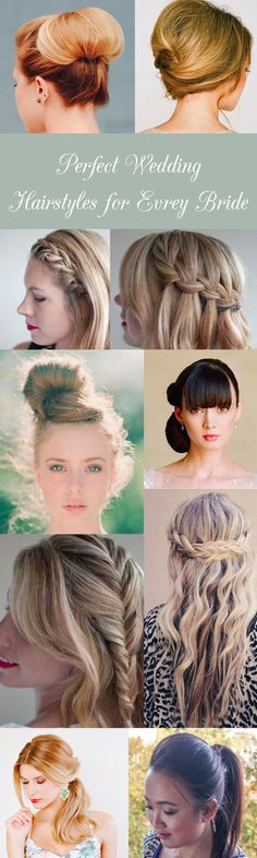 Perfect wedding hairstyles for every bride - @Hair Romance
