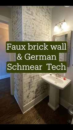 Installing faux brick wall panels and giving them texture! Faux Brick Wall Panels, Brick Wall Paneling, Painted Brick Walls, Brick Accent Walls, Fake Brick Walls, Brick Wall Bedroom, Church Interior Design, Brick Texture, Exposed Brick