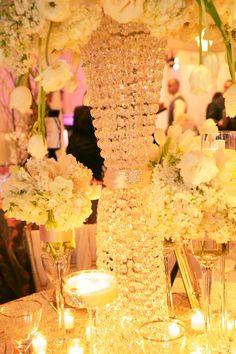 Bling centerpiece vase