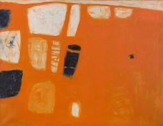 William Scott - Orange and Blue, 1957, Oil on canvas, 86 x 112cm (34 x 44 in) British Council Arts Collection