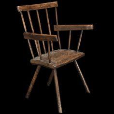 Primitive Stick Welsh Windsor Chair, UK - 1760