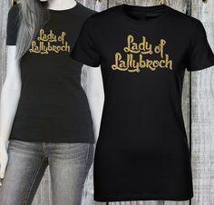 Outlander Shirt Lady of Lallybroch Glitter Print by FunnyBoneTees