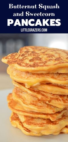 Butternut Squash and Sweet Corn Pancakes - a savoury cheesy pancake recipe with the natural sweetness of butternut squash. Butternut Squash and Sweet Corn Pancakes - a savoury cheesy pancake recipe with the natural sweetness of butternut squash. Hot Cocoa Recipe, Cocoa Recipes, Hot Dog Recipes, Baby Food Recipes, Pancake Recipes, Sweetcorn Bake, Corn Pancakes, Pancakes Easy, Sweet Corn