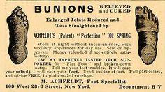 1906 Vintage Ad Bunions Cure Foot Feet Medical Quackery Original Advertising. #podologie