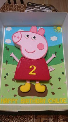 Peppa Pig muddy puddles birthday cake