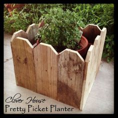 Use leftover pickets to craft an easy planter.
