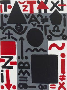 """AR Penck, """"Dreigeteiltes problème (tripartite problème),"""" 2011. Acrylique sur toile."""