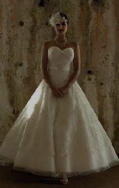 tea length bride dresses