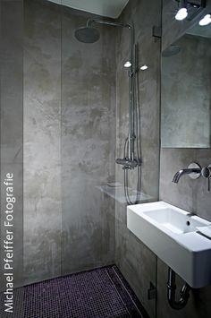 Fugenloses bad realisiert mit carameo neue wohnideen f r - Wandfliesen ohne fugen ...