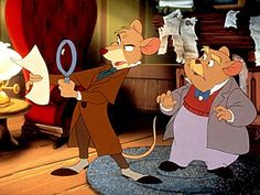 'Basil the Great Mouse Detectiv' (1985) Disney's take on Sherlock with an added homage to Basil Rathbone!