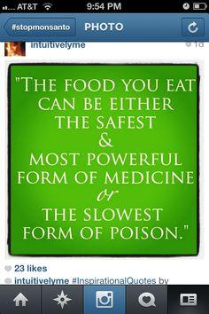 Stop Monsanto: eat organic
