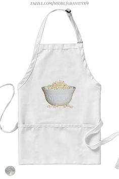 * Bowl of Popcorn Movie Night Apron by #Gravityx9 at Zazzle *Three colors to choose from.* Sizes for adults and children. * Adjustable neck strap for good fit. * Fun in the Kitchen * Popping Corn Apron * Popcorn apron * Movie Night * cooking accessories * kitchen accessories * cooking supplies * kitchen supplies *cooking class supplies * sous chef uniform *gift for chef * kitchen gifts * cooking class * #apronaddiction #apron #kitchen #cooking #inthekitchen #popcorn #poppingcorn #movienight…