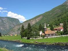 'Norway in a Nutshell' - Flåm Church, Aurlandsfjord, Norway