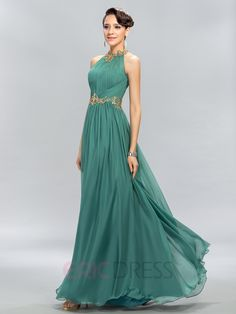 Pretty Jewel Beading A-Line Evening Dress 3