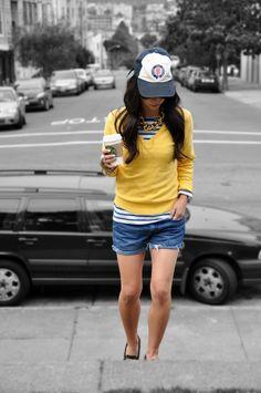 weekend casual + hat