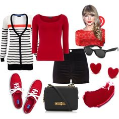 """""""Taylor Swift Red Keds inspired Outfit"""""""