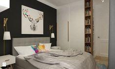 Mieszkanie na Woli Warszawa 54m2 - Średnia sypialnia, styl minimalistyczny - zdjęcie od Grafika i Projekt architektura wnętrz