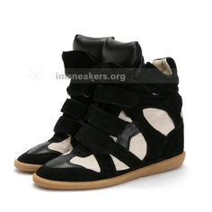 Isabel Marant Sneakers High-top White Black Suede