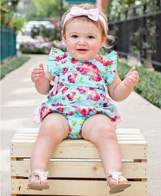 c8beb189e190 Life is Rosy Ruffle Romper - RuffleButts.com Baby Girl One Pieces