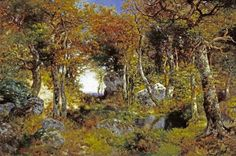 Thomas Moran - The Woodland Pool - art prints and posters