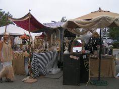 Blossoms Vintage Chic: Flea Market  at The Urban Barn ~ creative display using a vintage airstream caravan