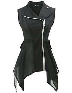 Black Chiffon Vest --- Chiffon Vest: Coolest Outerwear EVER | Our Daily Style http://spotpopfashion.com/wwf9