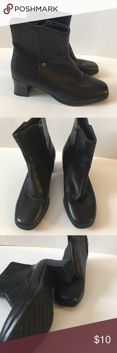 Cute Black Leather Ankle Boots Excellent condition. No tears or noticeable marks! Quality leather boots. Thom Moan Shoes Ankle Boots & Booties
