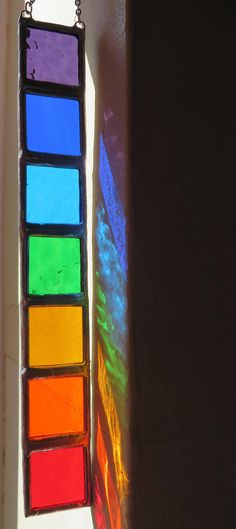 Chakras Bright & Bold Healing Rainbow Stained Glass
