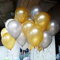 10 Inch Gold & Sliver Latex Balloons for Party Decoration 100 Pcs/lot NEO Loons http://smile.amazon.com/dp/B0090WRMQY/ref=cm_sw_r_pi_dp_QTOJwb1ZS6ABH
