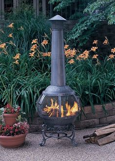 Venetian Chiminea From The Blue Rooster Cast Iron Backyard