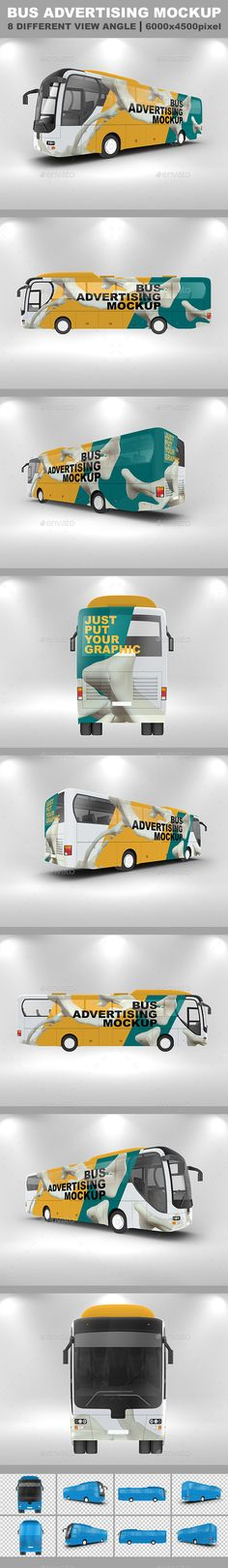 Bus Advertising Mockup Template #mockup #design Download: http://graphicriver.net/item/bus-advertising-mockup/12606783?ref=ksioks