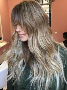Long Balayage Ombre Hair With Bangs Long Layered Haircuts, Trendy Hairstyles, Fall Hairstyles, Ombre Hair, Balayage, Updos, Long Hair Styles, Ideas, Contouring