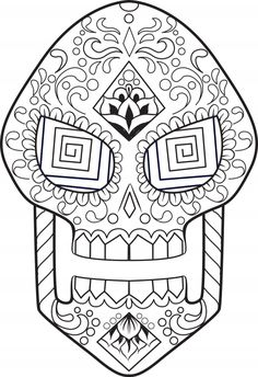 59 Best Free Sugar Skull Coloring Pages Images On Pinterest
