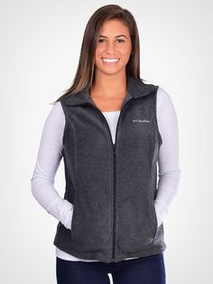 When the cool weather comes around, it's time to break out the layers. One of our favorite layers is this incredibly soft and comfortable full zip fleece vest from Columbia. It can be paired with so m