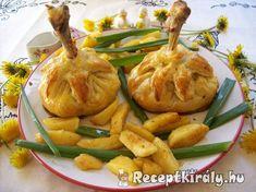 Burgonya pürével sonkával töltött csirke combos batyu | Receptkirály.hu Comb, Meat, Chicken, Cubs