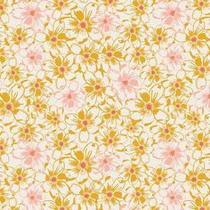 SALE fabric, Sweet as Honey fabric by Bonnie Christine for Art Gallery. This listing is for Bed of Daisies in Golden, shown in the first picture, you choose the cut! (see our FREE shipping deal below)  Quantity button will allow you to purchase fat quarters, 1/4 yards, half yards, or yardage. Price and size are listed in the dropdown menu. Multiple quantities will be cut in one continuous piece. 100% cotton. ***You choose the cuts*** Fat quarters are 18 by 22 1/4 yards are 9 by 44 1/3 yards…