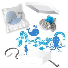 Under the Sea Gift Box - Oh Divine online shop – Oh Divine! Online Shop for Kids and Babies White Gift Boxes, Under The Sea, Nursery Decor, Wall Decals, Kids Room, Babies, Pillows, Shop, Gifts