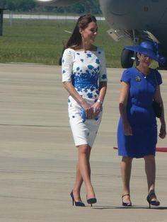 The Duchess of Cambridge arrives in Brisbane