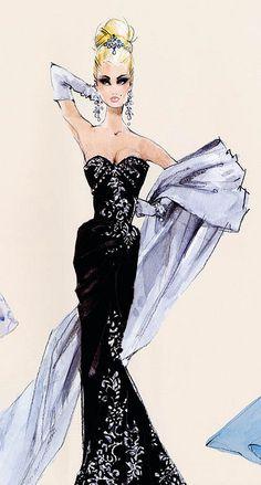 Black Dress Sketch